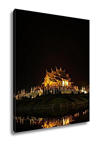 Ashley Canvas Royal Pavilion Or Ho Kham Luang In Thai Namechiang Mai At North Of Thailand, Wall Art Home Decor, Ready to Hang, Color, 20x16, AG5783470 by Ashley Canvas