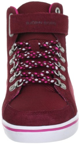 Mid Nyl Mally rot Borg Mode Baskets Footwear Björn Rouge Femme 1241153501 4tIw7cq