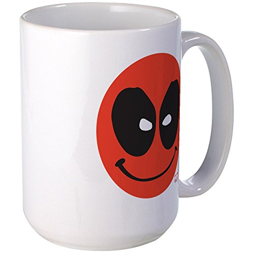CafePress Deadpool Smiley Face Large Mug Coffee Mug, for sale  Delivered anywhere in USA