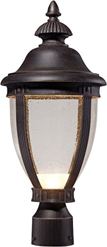 Post Lights 72416-51A-L Wynterfield Outdoor Post Lighting LED, Brass ()