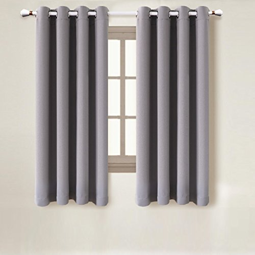 Kee Brown Blackout Window Curtains for Any Living Space 2 Panel Set 52″ Wide x 63″ Long Each Panel