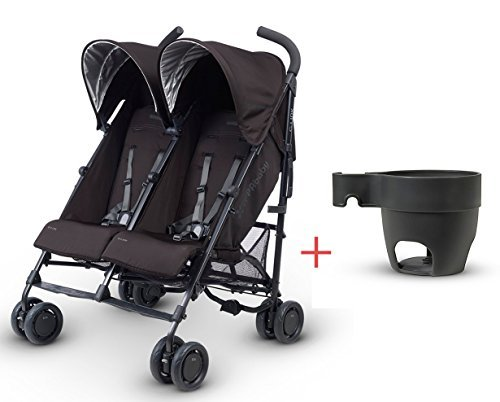 Uppababy G Link Double Stroller Jake Black with Cup Holder and Infant Insert