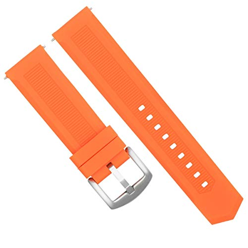 22MM Rubber Watch Band Strap Deployment Clasp for TAG HEUER F-1 AQUARACER Orange #1