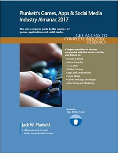 Plunkett's Games, Apps & Social Media Industry Almanac 2017