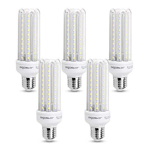 Aigostar – LED-lamp B5 T3 4U, E27,15 W, stralingshoek 360 °, koud wit 6400 K, 1200 lumen, niet dimbaar, 5 stuks
