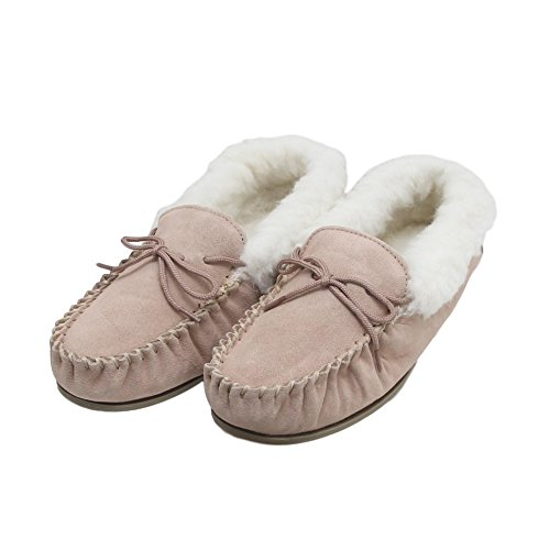 Ladies Sheepskin With Hard Slippers Moccasin Sole 7wZ7SptrqW