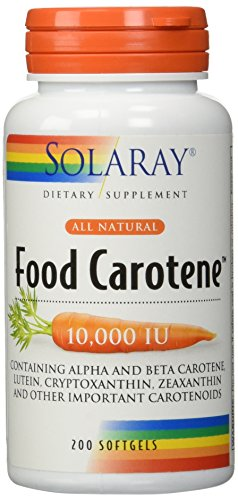 Solaray Food Carotene All Natural 10,000 LU Softgels, 200 Count