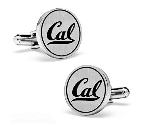 California Golden Bears Cufflinks | 19mm Sterling Silver Round Top (California Golden Bears Cufflinks)