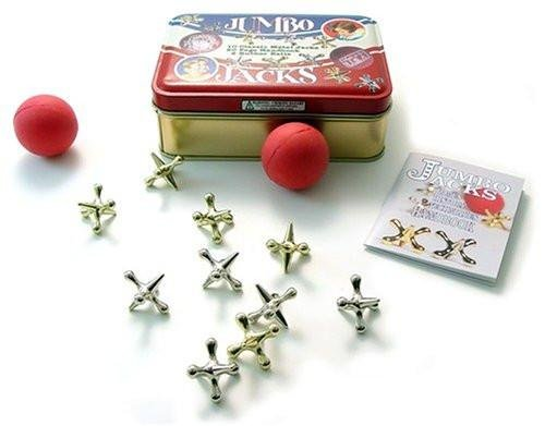 Channel Craft, Jumbo Jacks in a Classic Toy Tin, Jacks Game, Vintage Toys