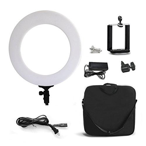 Lylycty 12 inch LED Ring Light Dimmable Fluorescent Continuous Lighting Kit for Camera Photo Video YouTube and Photography Lighting by LYLYCTY