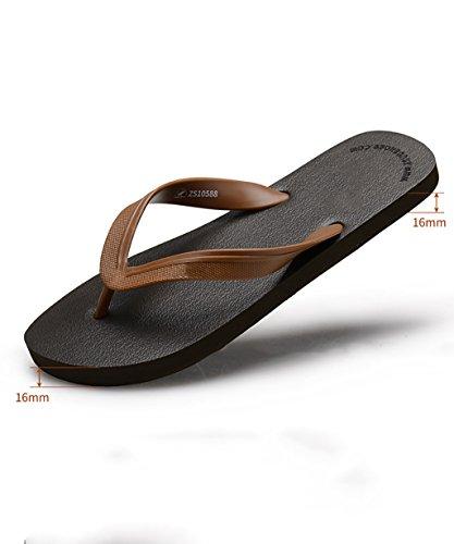 Marrón De EU41 Sandalias UK8 Nuevo Dedo CHAOXIANG Del Color Para Del Playa Zapatos EVA Tamaño Post Blanco Flop Chanclas CN42 Surf Verano Pie De Flip nCqpS
