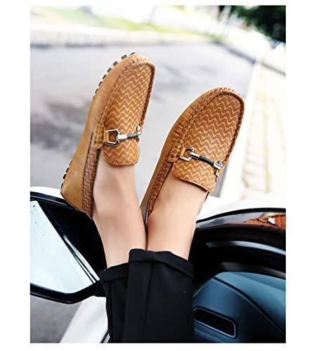 Para Cordones Calle Moda Casual Cuero amp; Con Do De Mocasines Conducción Hombre Barcos Spring Antideslizantes 2018 Zapatos Fall fwq1WYd