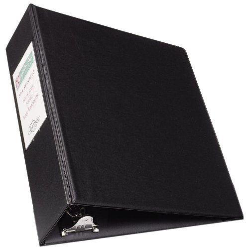 Avery Mini Durable Binder for 5.5 x 8.5 Inch Pages, 2-Inch Round Ring, Black, 1 Binder (27554) - Label Sleeve Round Ring Binder