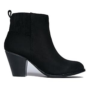 J. Adams High Heel Suede Ankle Boot, Black Suede, 8 B(M) US