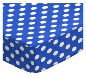 SheetWorld Fitted Cradle Sheet 18 x 36 - Polka Dots Royal Blue - Made In USA by SHEETWORLD.COM