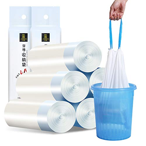 Kitchen Drawstring Garbage Bag-Durable White Kitchen Garbage Bag