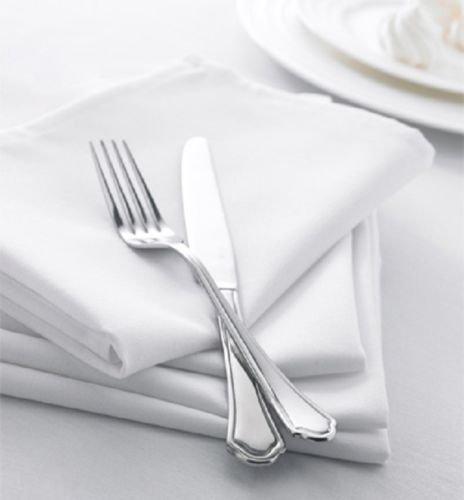 300 NEW PREMIUM WHITE COTTON RESTAURANT WEDDING DINNER CLOTH LINEN NAPKINS 20X20 (300) by Gold textiles (Image #1)