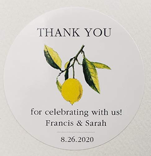 Personalized Lemon Wedding/Party Favor Labels/Stickers - Set of 50 (50)