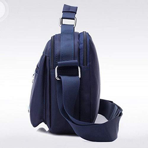 Hombro Crossbody Casual Con Bolso Ajustable De Asa Correa Bolso Messenger Viaje Business Y Superior Sling De Byqny Azul Bolso 7xHzTE