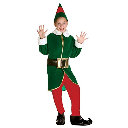 Rasta Imposta Green and Red Elf Children's Costume, 7-10, Green and Red