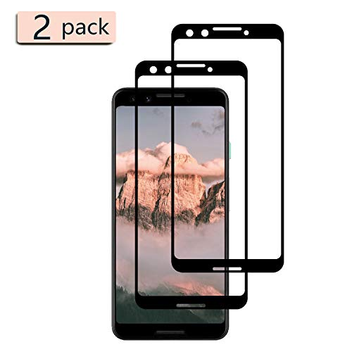 [2-Pack] Xvolt Tempered Glass Screen Protector Compatible for Google Pixel 3, [Full Screen Coverage [Fingerprint, Scratch & Force-Resistant] [Case-Friendly] for Pixel 3 (Not for Pixel 3 XL)