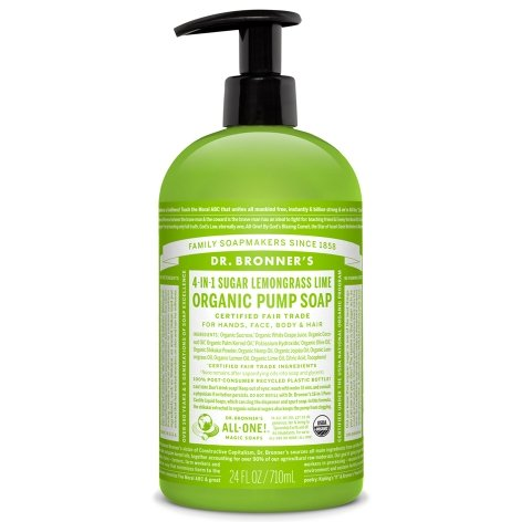 Dr. Bronner's Organic Pump Soap - Lemongrass Lime 24oz