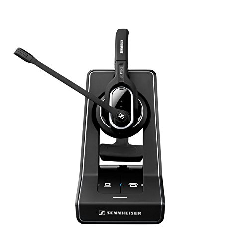 Sennheiser SD PRO2 - Stereo (Duo) Deskphone Cordless Headset with Cisco EHS Adapter | Compatible Cisco Models: 8900 and 9900 Series | Bonus Cushions Included by Sennheiser (Image #1)