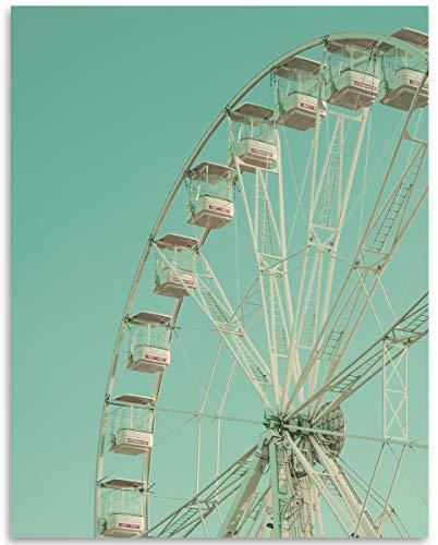 (LSA Brand Ferris Wheel - 11x14 Unframed Print - Makes a Great Gift Under $15 for Amusement Park Fans)