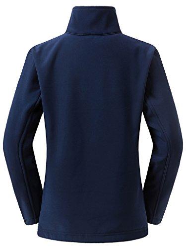 Wantdo Mujer Cazadora Chaqueta Suave Al Aire Libre Impermeable Azul Marino