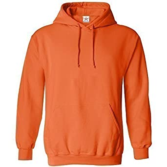 X-SMALL Orange classic plain pullover hoodie unsex and these are ideal for  mens and 7abbfa814c6d