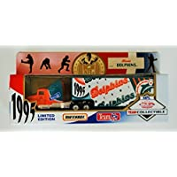 $24 » 1995 MATCHBOX NFL MIAMI Team Collectible 1:87 Scale Die Cast Replica Tractor Trailer - DOLPHINS