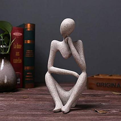 #1 MASUNN Sandstone Resin Thinkers Statua Sinistra Pensiero//Pensiero Destro//Pensiero Concentrazione Modelli Giocattoli