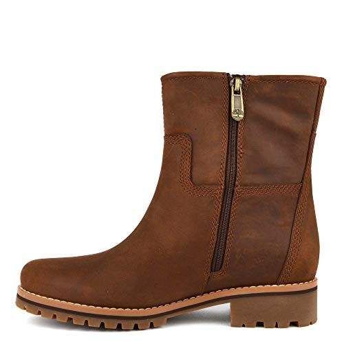 Femme Marron Timberland Bottes Main Hill Motardes qXT0I