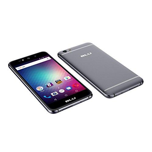 BLU Grand Max G110Q Unlockes GSM Quad-Core Phone w/ Dual 8MP Front & Back Camera - Gray