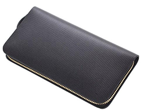 Leather Purse Black Wallet Diamante Cow Wristlet Men's Leather Wristlet Men's Cow SAIERLONG SAIERLONG Wallet Sq8A7Wn6P