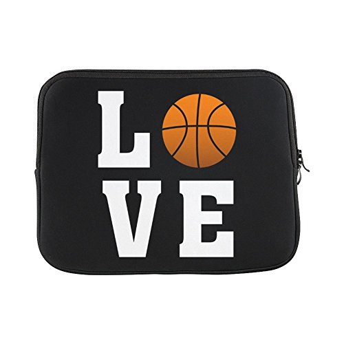 15.6 Inch Love Basketball Portable Laptop Carrying Case Sleeve Bag for Macbook, Macbook Air/Pro 15.6