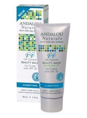 Andalou Naturals Oil Control SPF 30 Beauty Balm, Untinted, 2