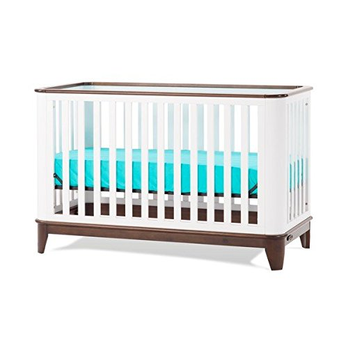 Child Craft Studio 4-in-1 Lifetime Convertible Crib, white/espresso finish