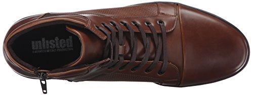 Kenneth Cole Onoterade Mens Krona Värdig Mode Sneaker Cognac
