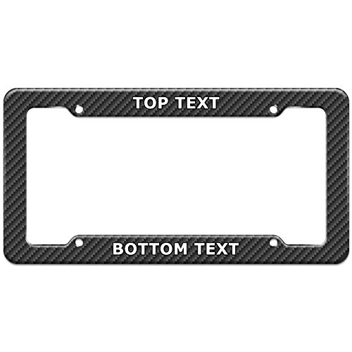 Graphics and More Personalized Custom Carbon Fiber Pattern License Plate Frame
