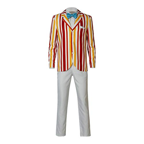 Halloween Bert Classic Movie Cosplay Costume Vertical Stripe Suit Full Set Uniform M]()
