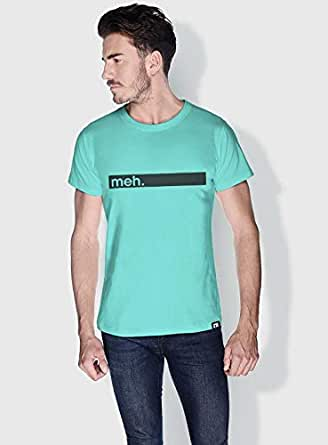Creo Meh Funny T-Shirts For Men - M, Green