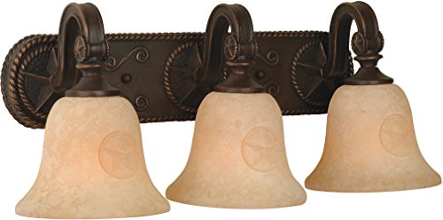 Craftmade 15021AZ3 Chaparral 3 Light Vanity Incandescent, Antique Bronze