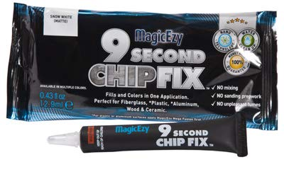 MagicEzy 9 Second Chip Fix - Fiberglass Repair - Fills and Colors Chips and Holes Fast