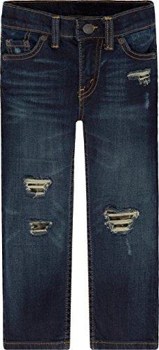 1f00e526b Galleon - Levi's Big Boys' Slim Fit Distressed Jeans, Inky Spot, 20