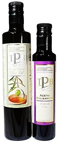 Tutto Bella Prodotti Extra Virgin, 500ml+250ml - Olive Oil + Balsamic - Kalamata Vinegar