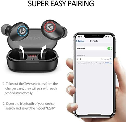 LYSTAR True Wireless Earbuds Bluetooth Headphones for Phones