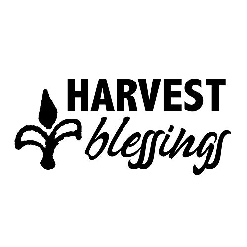 Creative Concepts Ideas Harvest Blessings Corn CCI Decal Vinyl Sticker|Cars Trucks Vans Walls Laptop|Black|5.5 x 3.0 in|CCI2557 (3 Men And A Baby Ghost In Window)