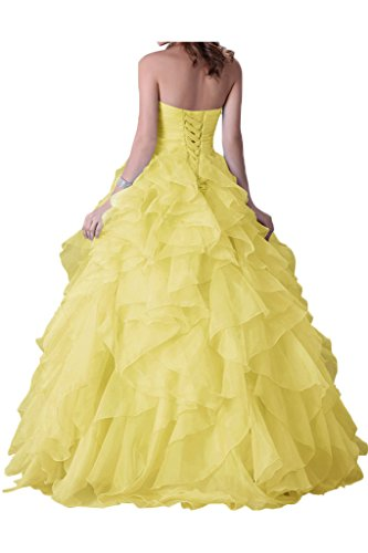 Avril Strapless Daffodil Dress Quinceanera Dress Layered Length Ball Floor Gown Beading rqZnrIw6