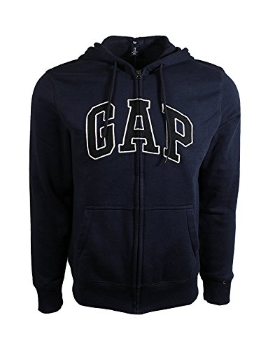 GAP Mens Fleece Arch Logo Full Zip Hoodie … (X-Large, New Navy (Black Logo)) from GAP